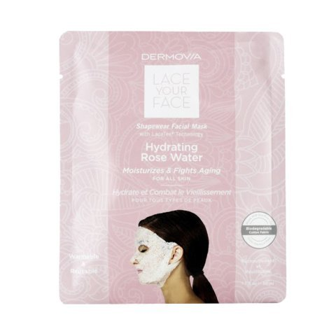 Lace Face Mask (LACE YOUR FACE Compression Facial Mask - Hydrating Rose Water - Single)