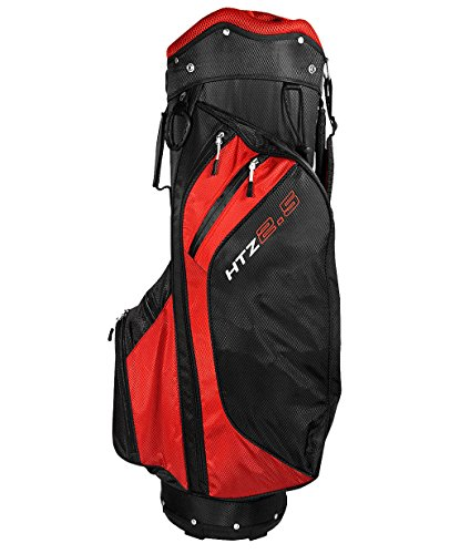 Hot-Z 2017 Golf 2.5 Cart Bag, Red/Black