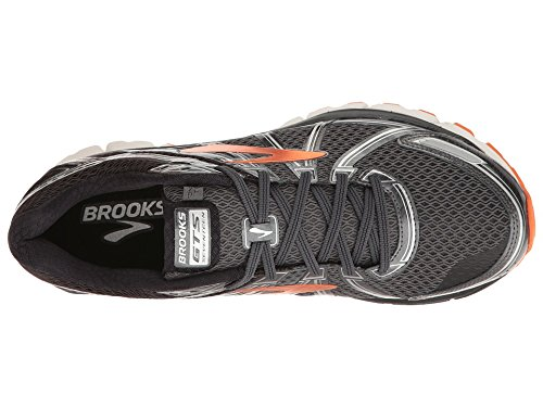 Brooks Men's Adrenaline GTS 17 Black/Anthracite/Red Orange 13 D US