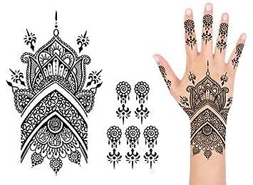 Amazon Com Indie Ink Realistic Temporary Henna Tattoo Mehndi 2