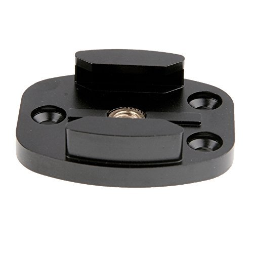 CAMZON Aluminum Quick Release Flat Surface Mount Tripod for GoPro Hero 1 2 3 3+, Hero 3 Plus, 4 5 - Black (Hero Quick Release)