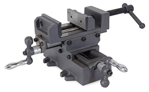 "WEN 413CV 3.25"" Compound Cross Slide Industrial Strength Benchtop and Drill Press Vise"