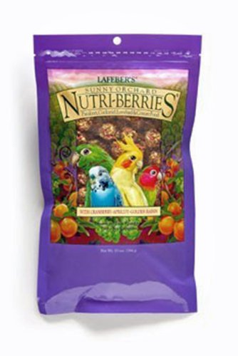 Lafeber's Gourmet Sunny Orchard Nutri-Berries for Cockatiels 10-Ounce Bag, My Pet Supplies