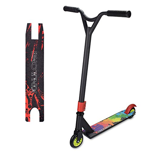Flantor Pro Scooter, Freestyle Fashion 2-Wheel Trick Scooter Shock-Absorbing Stunt Kick Scooter with Sturdy Handlebars for Beginner and Advance Player