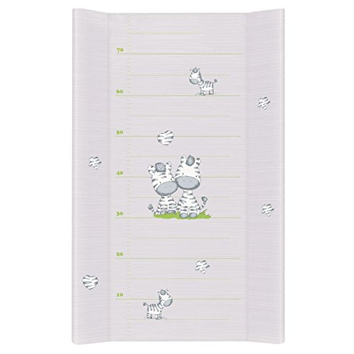 Baby Hard Base Changing MAT/TOP Changer 80x50 FITS COT Bed 140x70cm - Grey Zebra Baby Comfort