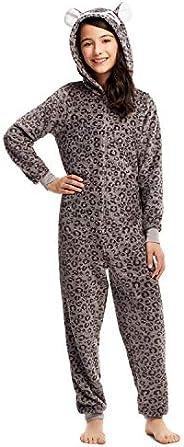 Girls Pajamas - Plush Zippered Kids Animal Onesie Blanket Sleeper
