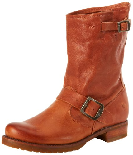 FRYE Women's Veronica Short Boot, Whiskey Soft Vintage Leather, 9 M US