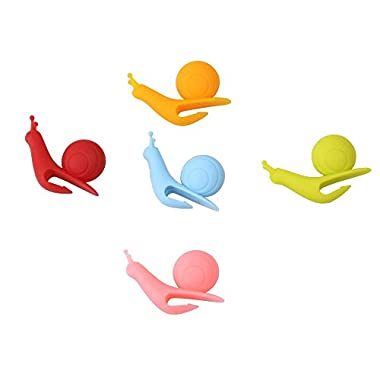eBoot 10 Pcs Cute Snail Shape Silicone Tea Bag Holder (Candy Colors)