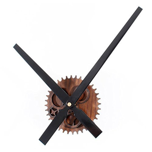 30CM Vintage European Style Wooden Wall Clock - 3