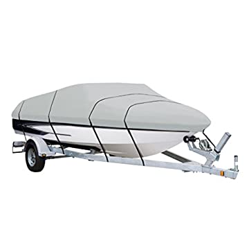 Image of AmazonBasics Boat Cover for V-Hull Runabouts and Bass Boats