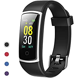 YAMAY Fitness Tracker with Blood Pressure Monitor Heart Rate Monitor Watch,IP68 Waterproof Activity Tracker 14 Modes Smart Watch with Step Counter Sleep Tracker,Fitness Watch for Women Men (Black)