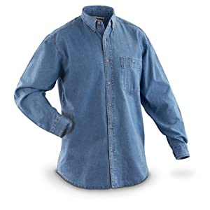 Wrangler Men's Big/Tall Rugged Wear Basic Denim Shirt