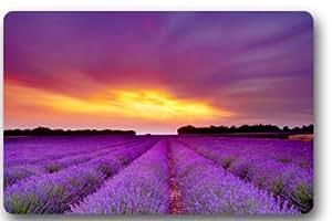 Standard-Store Custom Beautiful Natural Lavender Field Doormat