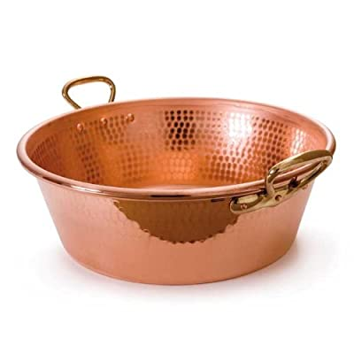 Mauviel M'Passion 2193.36 11-Quart Copper Jam Pan with Bronze Handles