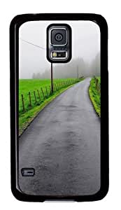 Green Grass Road Custom Samsung Galaxy S5/Samsung S5 Case Cover Polycarbonate Black