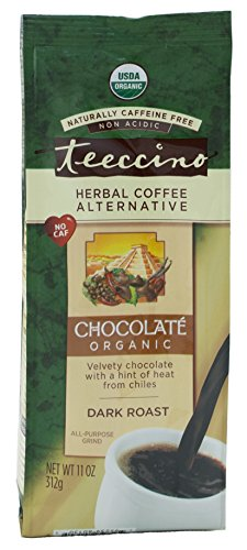 Teeccino Chocolate Organic Chicory Herbal Coffee Variant, Caffeine Free, Acid Free, 11 Ounce (Pack of 3)