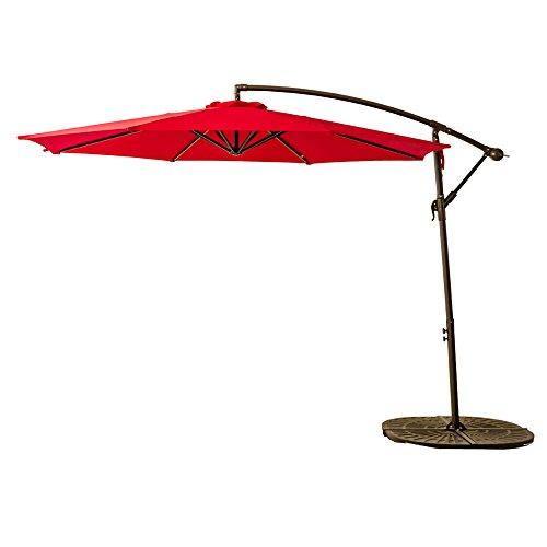 FLAMEu0026SHADE 10 Feet Outdoor Cantilever Offset Umbrella, Hanging Patio  Umbrella With Crank Li .