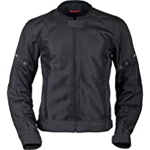 Pilot Motosport Men's Slate Air Mesh Motorcycle Jacket (Black, Small)