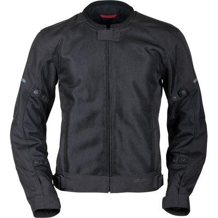 Pilot Motosport Men's Slate Air Mesh Motorcycle Jacket (Black, Large)