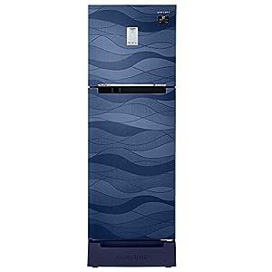 Samsung 244 L 3 Star Frost-Free Double Door Refrigerator (RT28T3C23UV/HL, Blue Wave)
