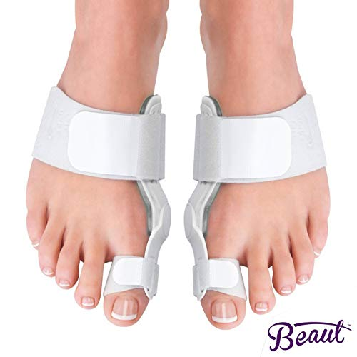 Bunion Corrector Relief Splint with Bunion Cushions Pads for Women and Men - Hallux Valgus Corrector for Bunions - Adjustable Orthopedic Bunion Corrector with Toe Strap for Maximum Comfort (1 Pair)