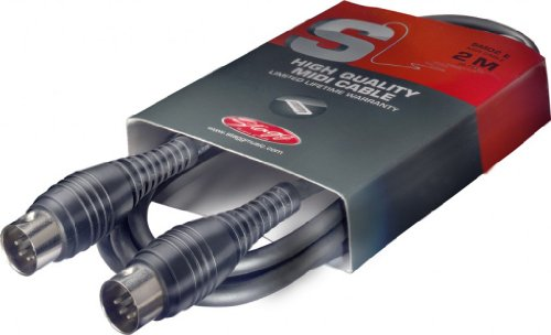 Stagg SMD2 E S-Series Midi Cable with Male DIN to Male DIN Plastic Connectors by Stagg