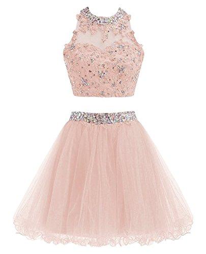 Ysmo - Vestido - trapecio - para mujer Rose Pink