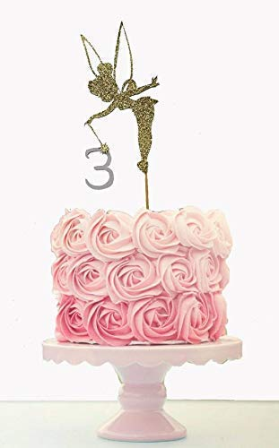 Fantastic Amazon Com Fairy Princess Cake Topper Any Age Glitter Fairy Personalised Birthday Cards Sponlily Jamesorg