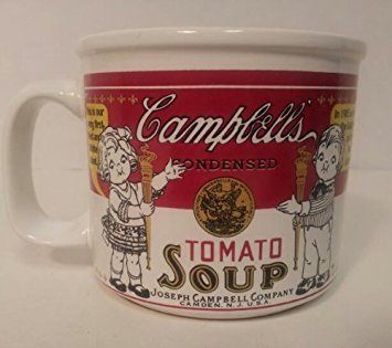 1999 Campbell Kids Tomato Soup Mug Featuring 1st Red and White Label
