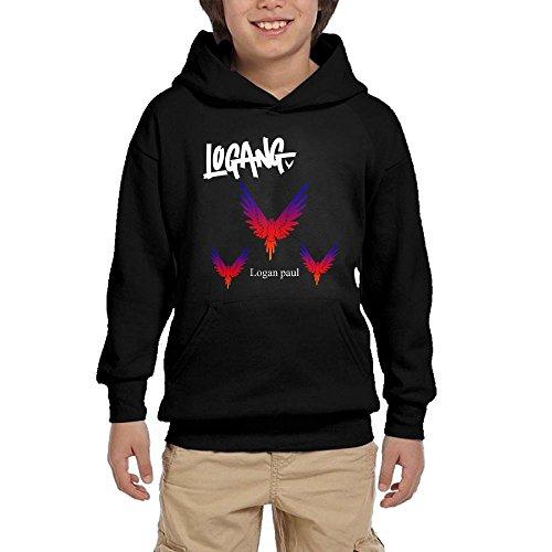 Lodakinss Logan Paul Sweatshirt Mens Maverick Logo Men's Geek Long Sleeve Hoodies M Black