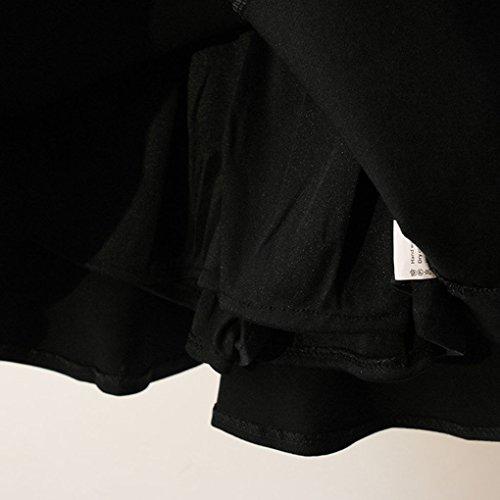 Femme Exposition Anti S Fille Providethebest Fish Jupenoir Coton Jupe Solide Couleur Tail Coton Femmes Y4qwTYB
