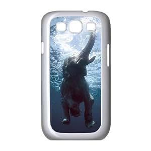 Bathing Elephant Customized Cover Case with Hard Shell Protection for Samsung Galaxy S3 I9300 Case lxa#844243 Kimberly Kurzendoerfer