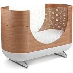 Ubabub Pod 3-in 1 Convertible Crib with Toddler Bed Conversion Kit, Natural