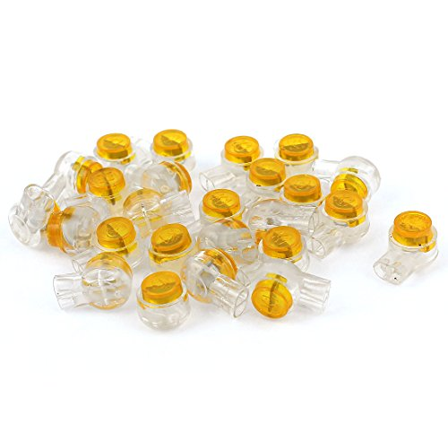 Aexit 25Pcs K1 Audio & Video Accessories 9mm OD 2 Ports Yellow Gel Splice UY Connectors & Adapters Wire Connector ()