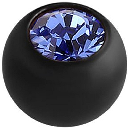 Blackline Threaded Jewelled Ball - Dark Blue 1.2mm x 3mm ()