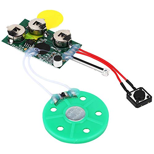 Recordable Voice Module, Greeting Card Chip 4mins DIY Recordable Greeting Card Module Light Sense Voice Sound Record Chip Portable Audio Video Light Activated Voice Chip(Loop Play)