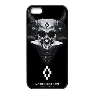 MARCELO BURLON 10 funda iPhone 5 5s funda del teléfono celular de cubierta, funda del teléfono celular de plástico negro