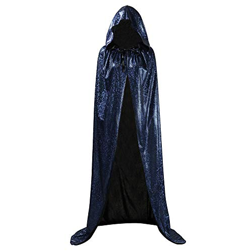 OurLore Unisex Full Length Hooded Cape Halloween Christmas Adult Cloak (Large, Black) -