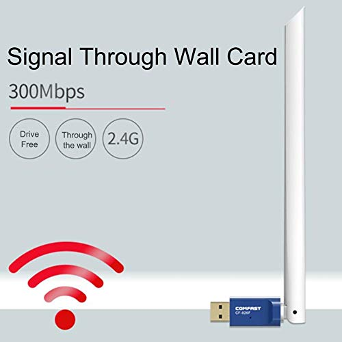jannyshop Wireless Network Card Desktop Laptop with Receiving Router Wireless Adapter Free Drive 300Mbps with Antenna WiFi Transmitter for Comfast 826F Free Drive