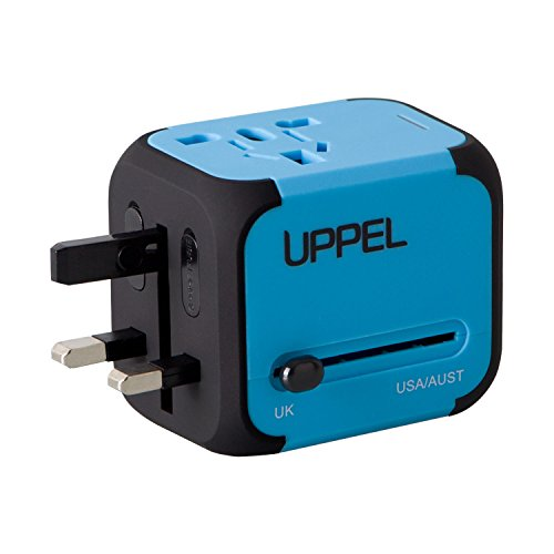 Travel Adapter Uppel Dual Usb All In One Worldwide Travel