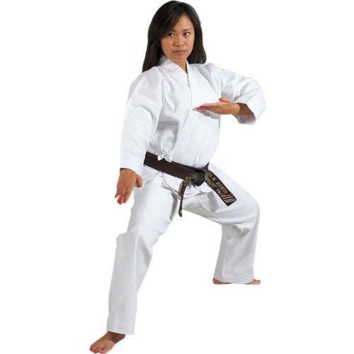 Tiger Claw 8oz Medium Weight 100% Cotton Traditional Karate Uniform - White - Size (Cotton Tailored Uniform)