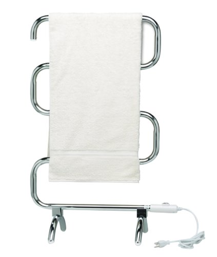 Warmrails HCC Mid Size Wall Mounted or Floor Standing Towel Warmer, 37.5-Inch Assembled, Chrome Finish