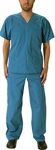 Natural Workwear Uniform Mens Medical Nurse Scrub Set, Teal 39923-Medium (Men Scrub)