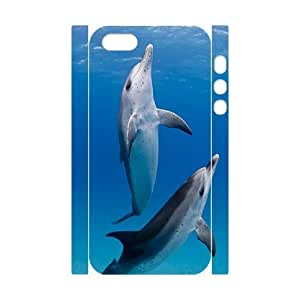 Dolphins 3D-Printed ZLB812429 Unique Design 3D Cover Case for Iphone 5,5S