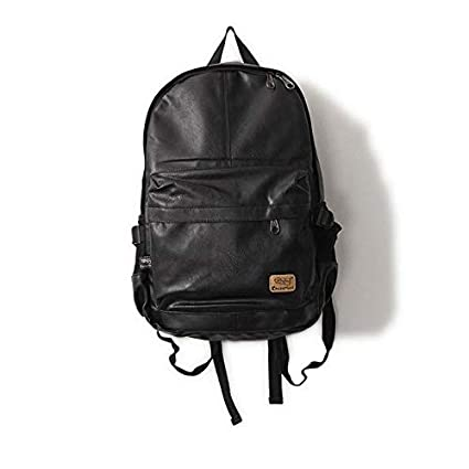 Amazon.com: Designer Brand Fashion Bag Black Leather Mens ...