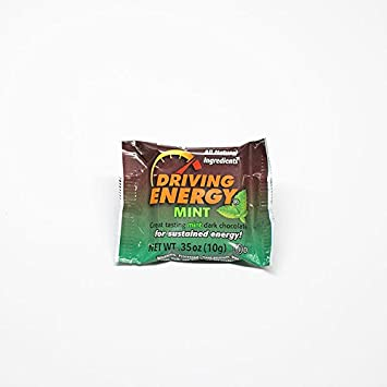 ZenEvo Dark Chocolate Driving Energy – Mint Dark Chocolate with 150mg Caffeine, Ginseng, Ashwagandha, and Maca – Provides Energy Antioxidant Boost – 50 Ct