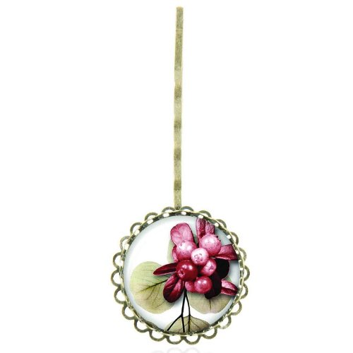 Epingle à cheveux au cabochon vintage aux jolies fleurs