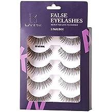 False Eyelashes Handmade Natural Eyelashes Soft and Light False Lashes 5 Pairs Comfortable Strip Eyelashes Durable Fake Eyelashes For Daily Use by LK LANKIZ