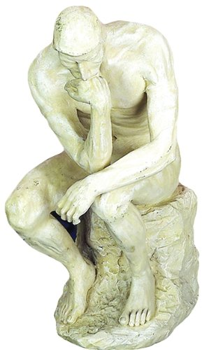(Benzara 75138 Polystone Thinker Statue for Great Decor Lovers)