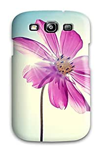 High Quality Purple Magenta Flower Tpu Case For Galaxy S3